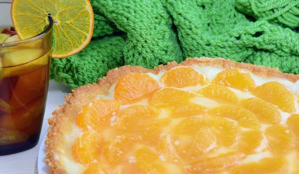 Сладкиш с мандарини и крем сабайон
