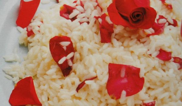 Ризото с червени рози