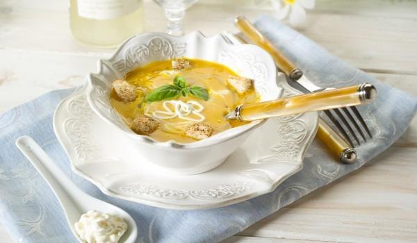 Млечна картофена кремсупа с пиле