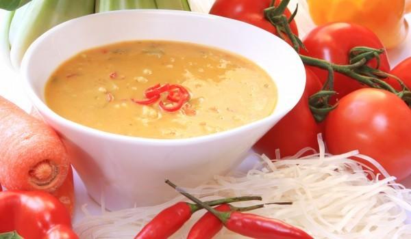 Супа с печени чушки