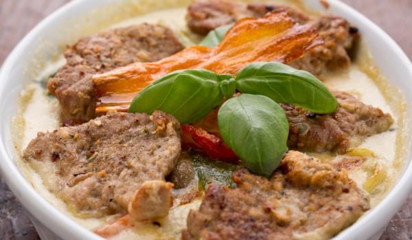 Пържоли със спанак по римски