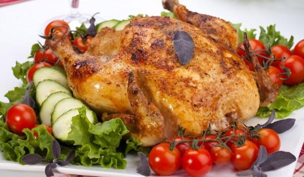 Пиле, пълнено със салам и сирене