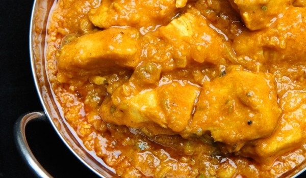 Пиле по индийски с ананас