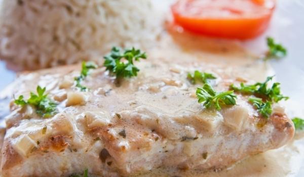 Гарнирано рибно филе